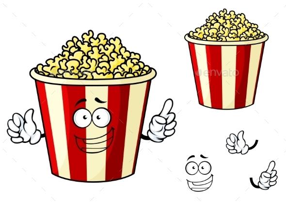 GraphicRiver Cartoon Box of Popcorn 10520766