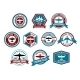 Aviation labels or badges in retro style - GraphicRiver Item for Sale