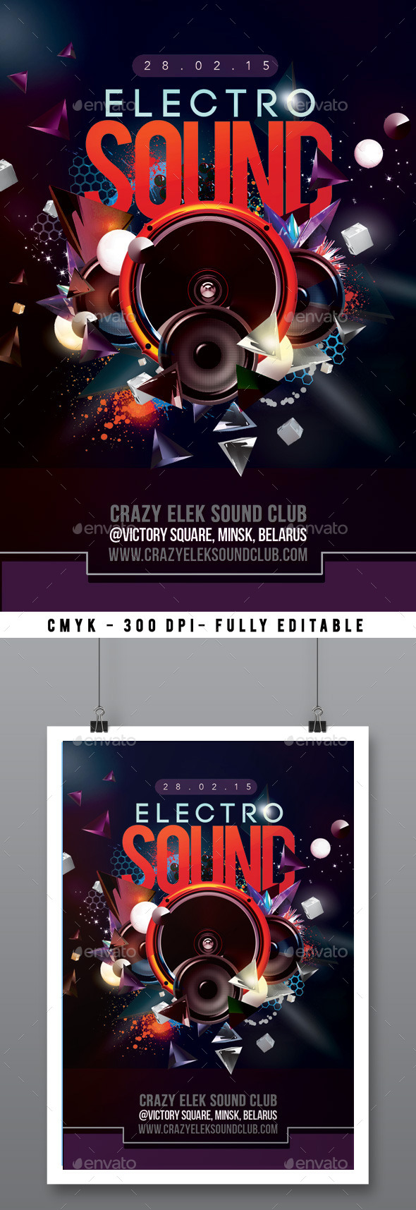 GraphicRiver Abstract Electro Sound Night Party In Club 10520977
