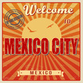 Mexico city touristic poster - PhotoDune Item for Sale