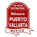 Welcome to Puerto Vallarta stamp - PhotoDune Item for Sale