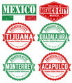 Set of Mexico cities stamps - PhotoDune Item for Sale