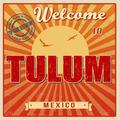 Tulum touristic poster - PhotoDune Item for Sale