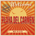 Playa del Carmen touristic poster - PhotoDune Item for Sale
