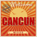 Cancun touristic poster - PhotoDune Item for Sale