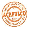 Acapulco stamp - PhotoDune Item for Sale