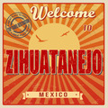 Zihuatanejo touristic poster - PhotoDune Item for Sale