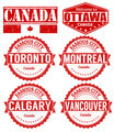 Set of Canada cities stamps - PhotoDune Item for Sale