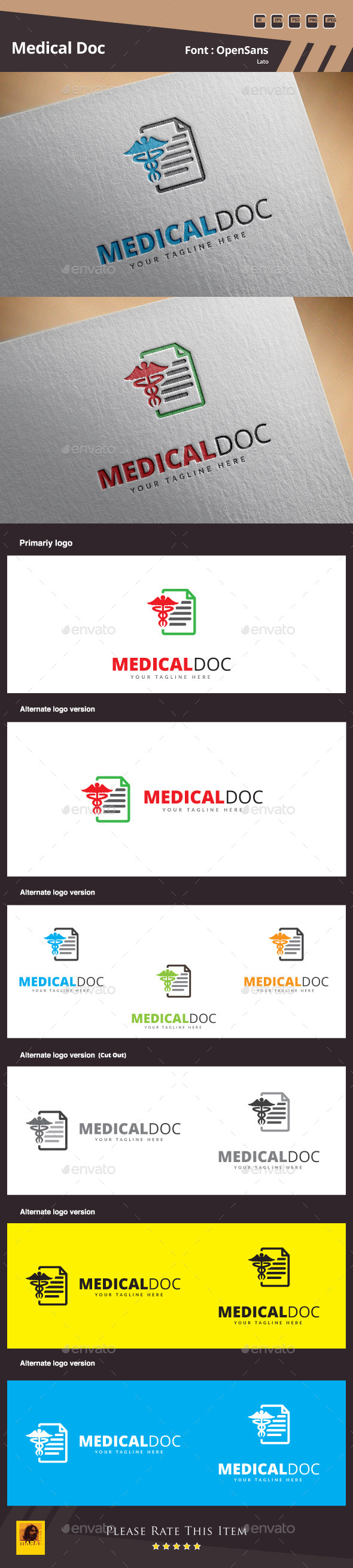 GraphicRiver Medical Doc Logo Template 10521283
