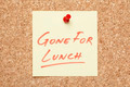 Gone For Lunch Sticky Note - PhotoDune Item for Sale