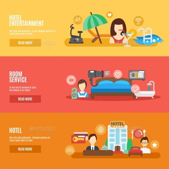 GraphicRiver Hotel Banner Set 10521600