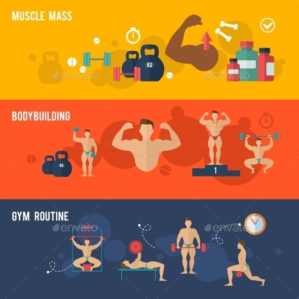 GraphicRiver Bodybuilding Banner Set 10521611