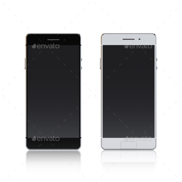 GraphicRiver Smartphone Black And White 10521622