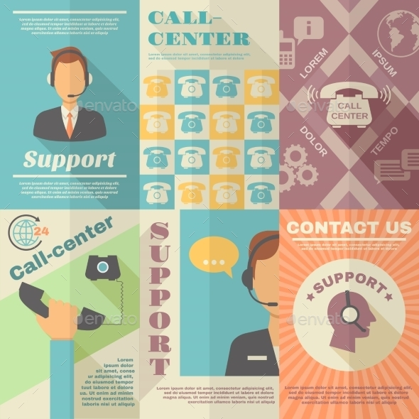 GraphicRiver Support Call Center Poster 10521639