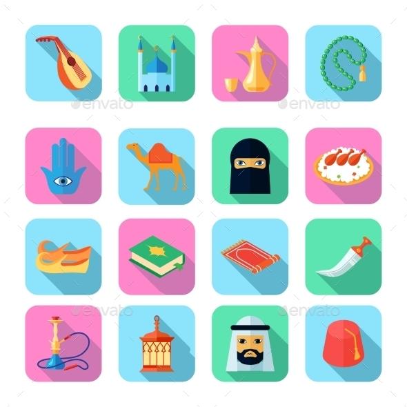 GraphicRiver Arabic Culture Icon Flat 10521641