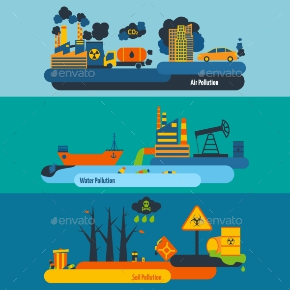 GraphicRiver Pollution Banner Set 10521643