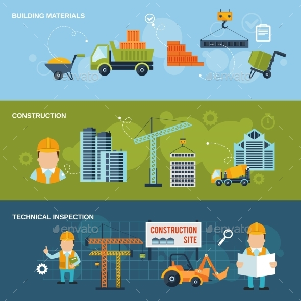 GraphicRiver Construction Banners Set 10521647