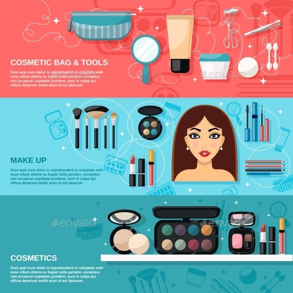 GraphicRiver Makeup Banner Set 10521656