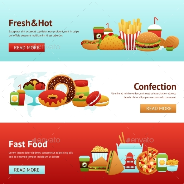 GraphicRiver Fast Food Banner Set 10521660