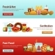 Fast Food Banner Set - GraphicRiver Item for Sale