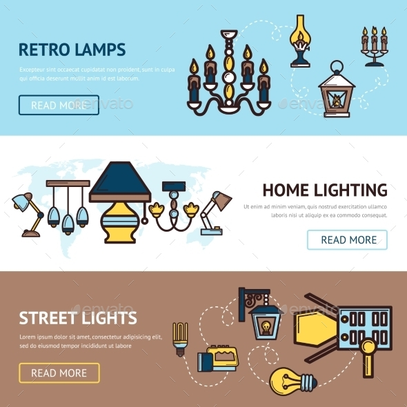 GraphicRiver Light Banners Set 10521664