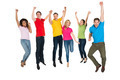 Group Of Multiethnic Diverse People Jumping - PhotoDune Item for Sale