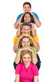 Group Of Multiethnic  Friends Stacked In A Row - PhotoDune Item for Sale