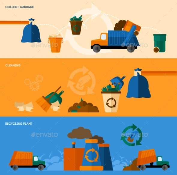 GraphicRiver Garbage Banner Set 10521667