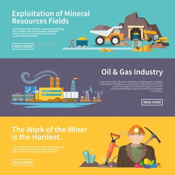 GraphicRiver Miner Banner Set 10521672