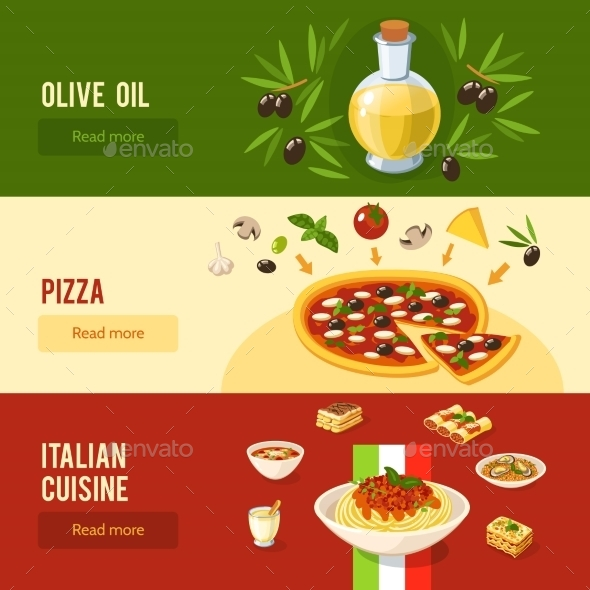 GraphicRiver Italian Food Banner Set 10521678