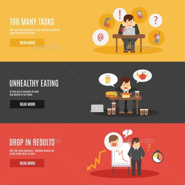 GraphicRiver Stress at Work Banners 10521692