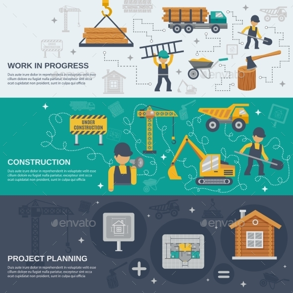 GraphicRiver Construction Banner Set 10521706