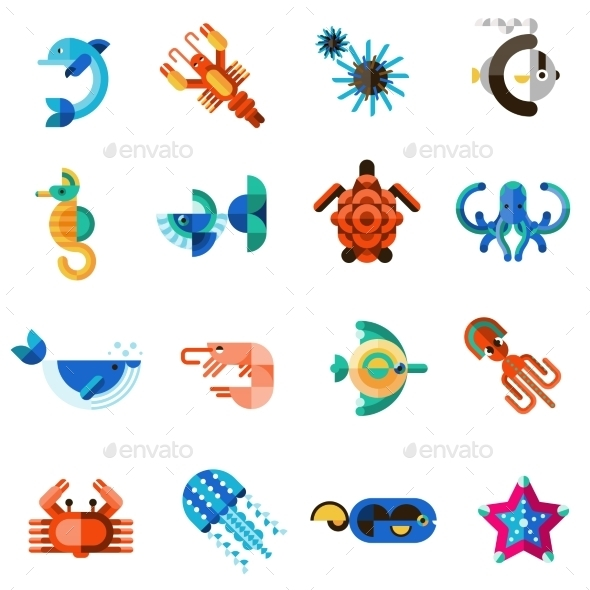 GraphicRiver Sea Creatures Set 10521712