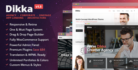Dikka - Responsive Multi Concept Wordpress Theme