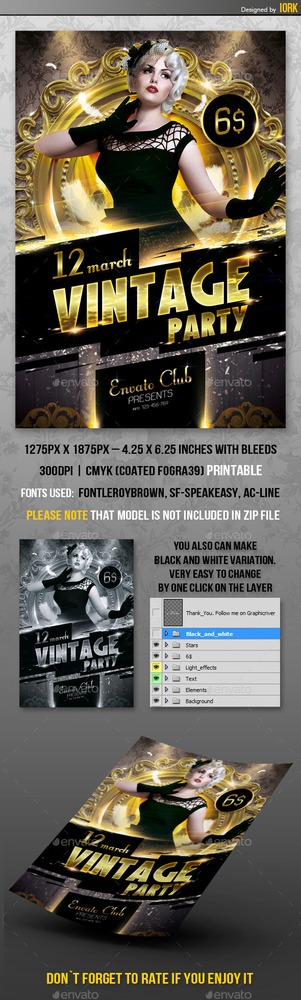 GraphicRiver Vintage Party flyer 10521835