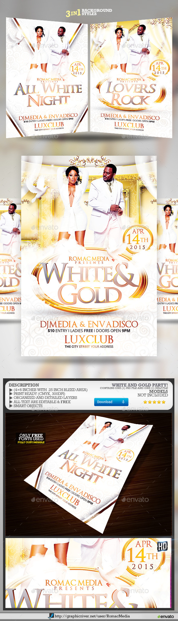 GraphicRiver White and Gold Birthday Party 10522332