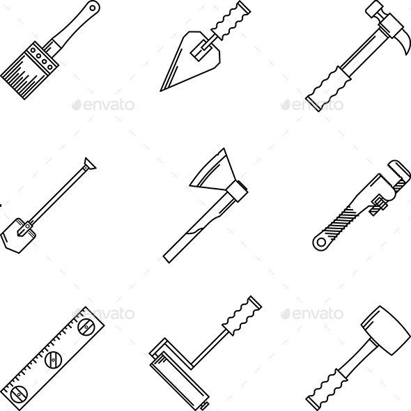 GraphicRiver Contour Hand Tools 10522615