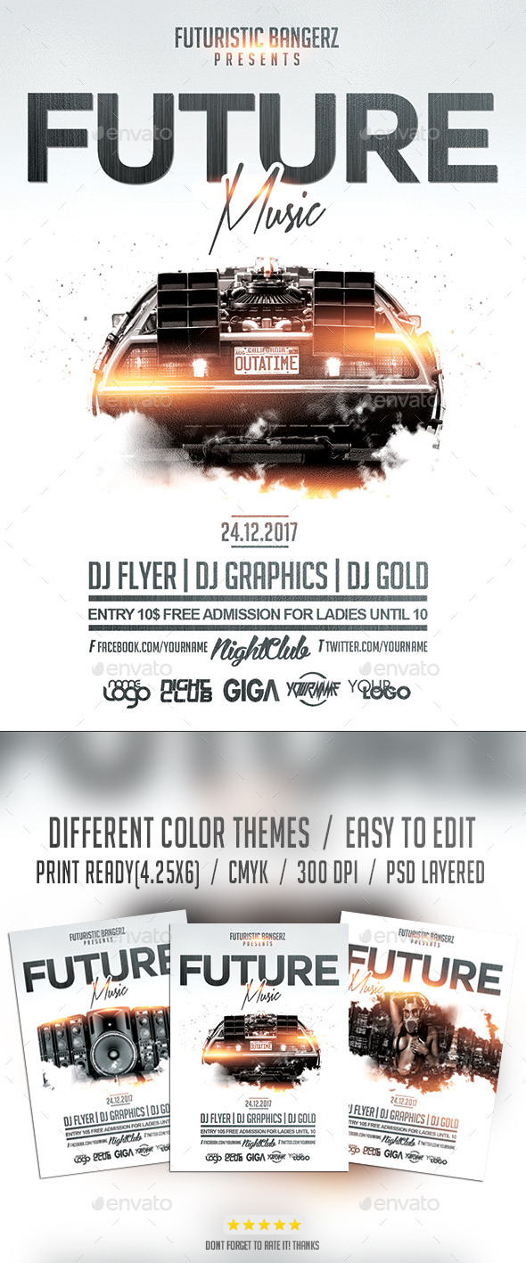 GraphicRiver Future Music Flyer PSD Template 10522623