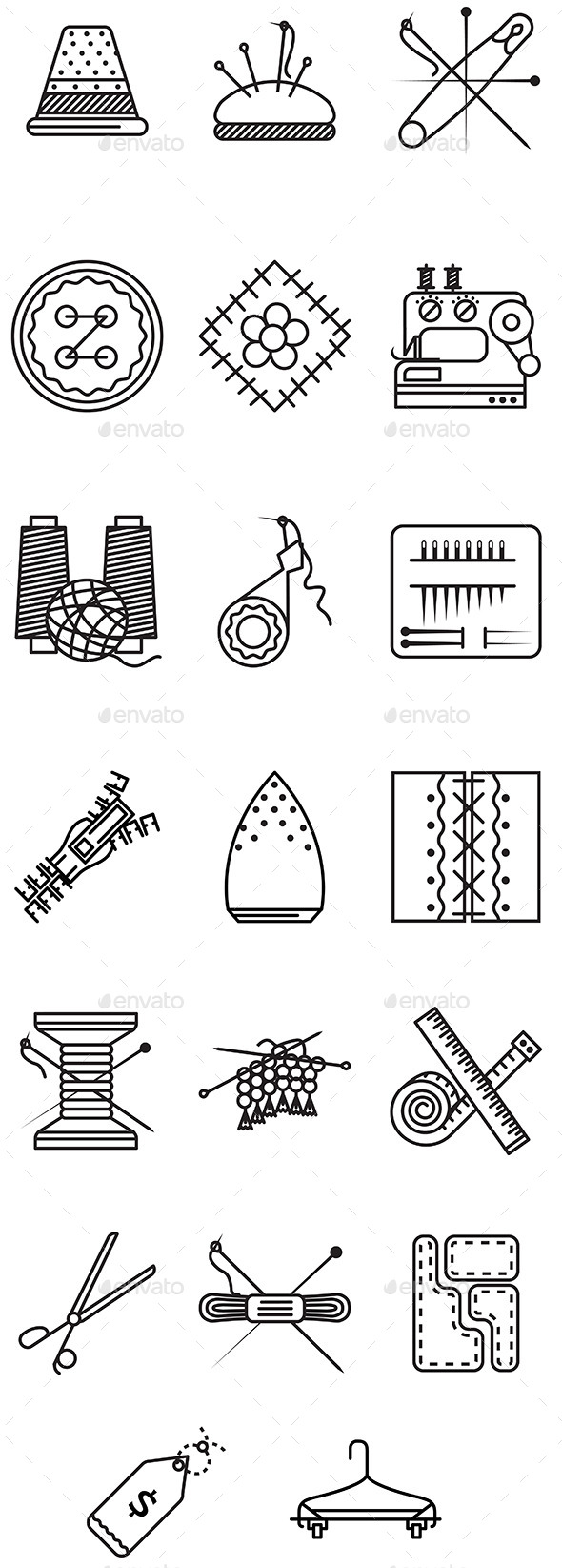 GraphicRiver Sewing Icons 10522762