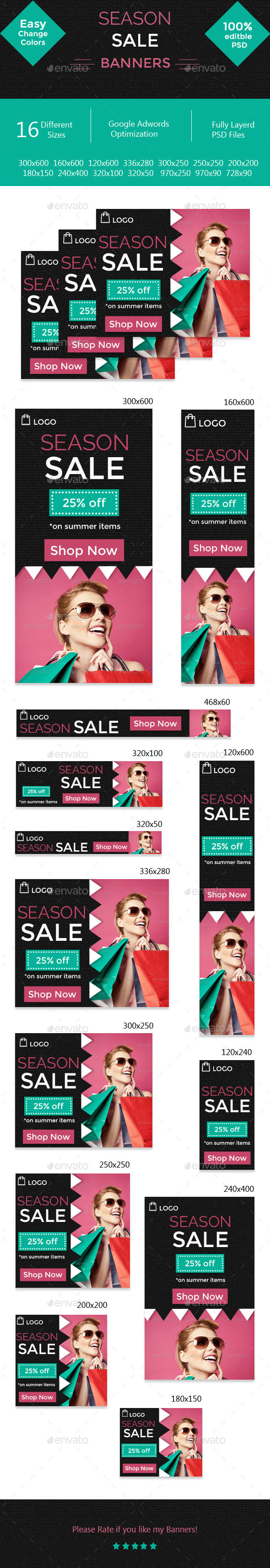 GraphicRiver Season Sale Banner 10522814