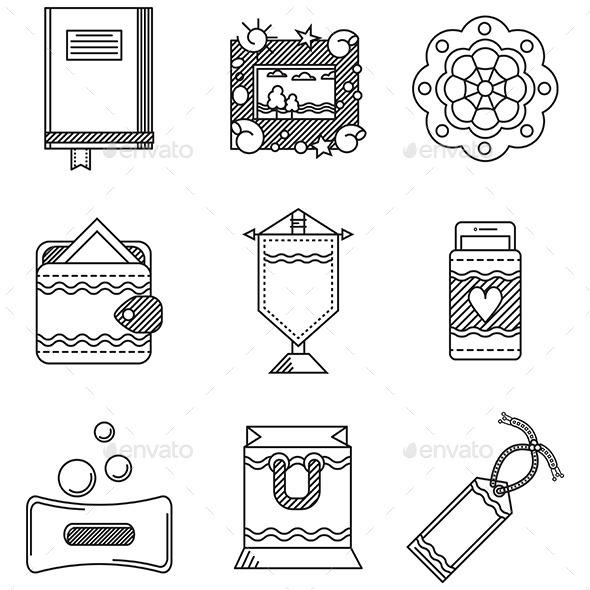 GraphicRiver Handmade Icons 10522826