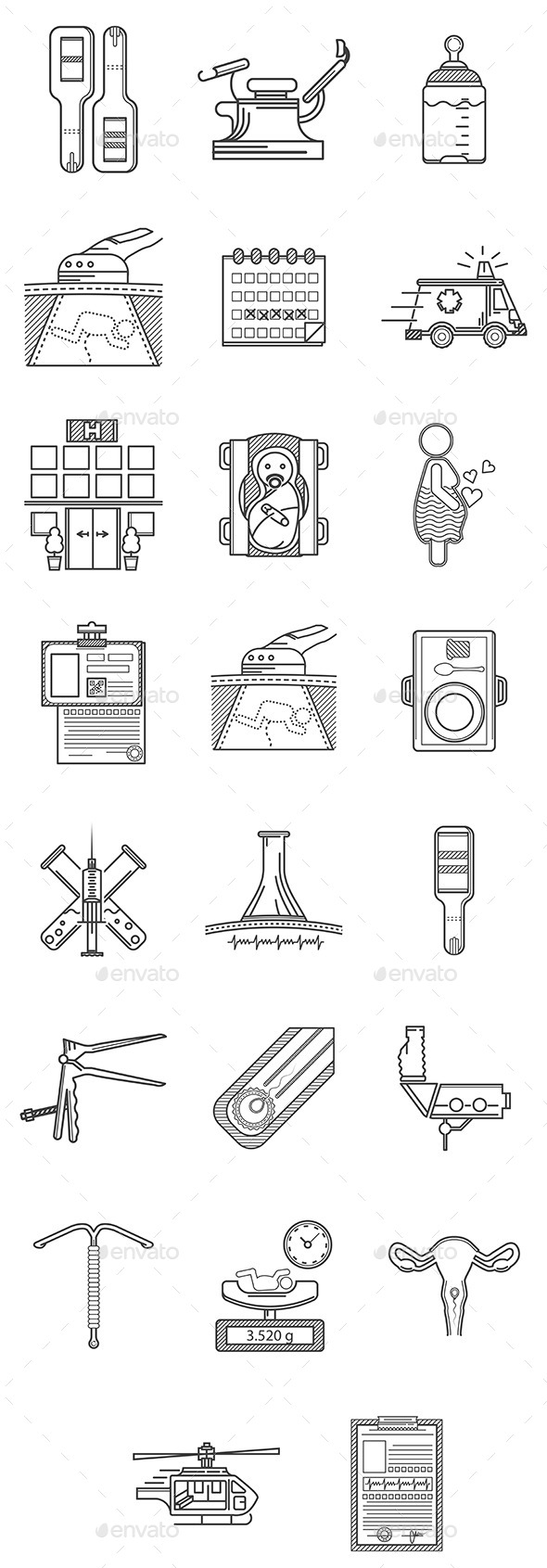 GraphicRiver Gynecology Icons 10522873