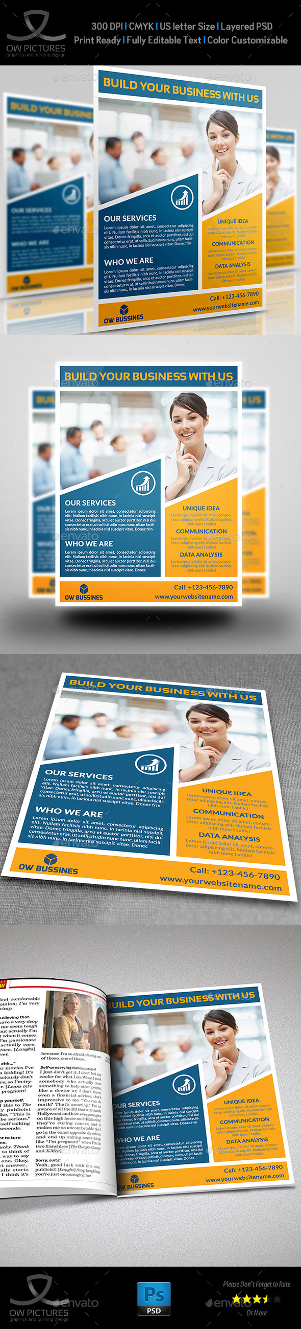 GraphicRiver Corporate Business Flyer Template Vol.20 10522888