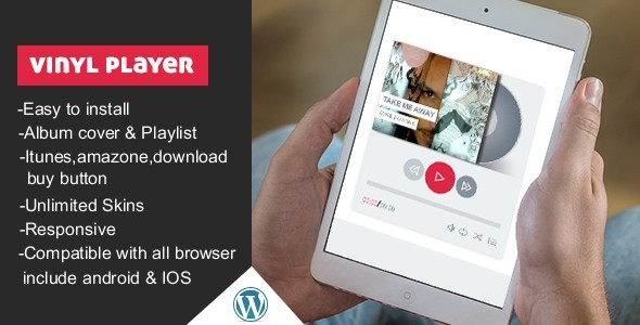 CodeCanyon Vinyl WordPress Audio Player With Playlist 10522978