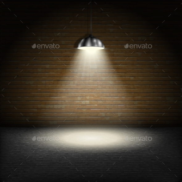 GraphicRiver Spotlight on Brick Wall Background 10523000