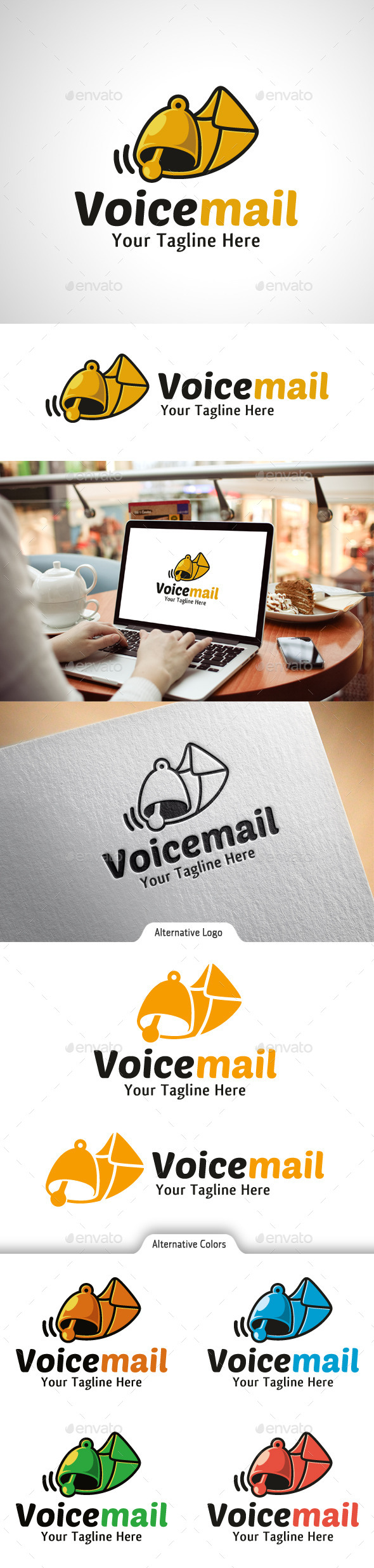 GraphicRiver Voice Mail Logo 10523098