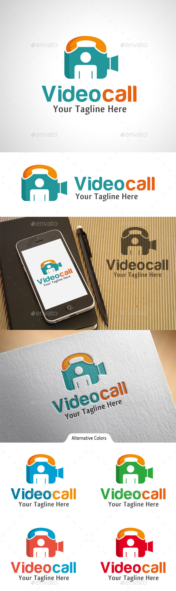 GraphicRiver Video Call Logo 10523161