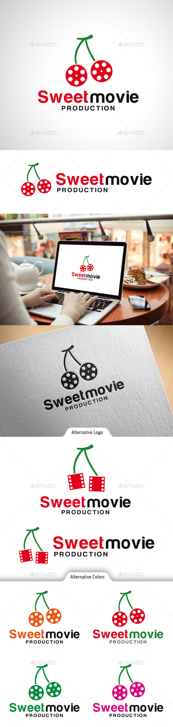 GraphicRiver Sweet Movie Logo 10523184