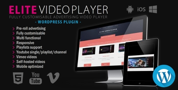 CodeCanyon Elite Video Player WordPress plugin 10496434