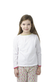 Little girl in nightwear on white - PhotoDune Item for Sale